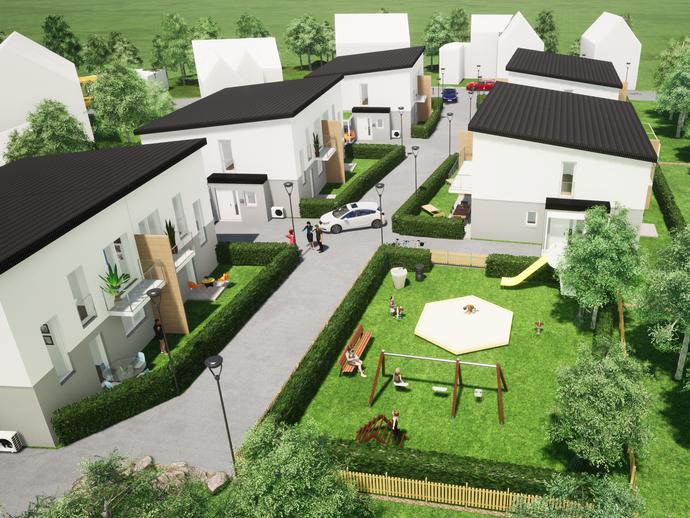 BAUBEGINN 2020 ***KFW-55-Wohnanlage mit 10 Doppelhaushälften in Coburg-Lützelbuch***