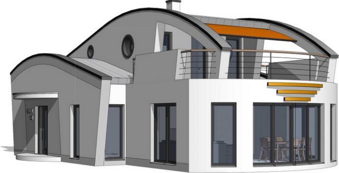 Neubau: Villa am See mit Seegrundstück