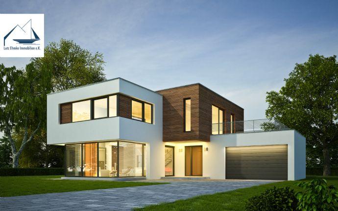 Großes Baugrundstück für ein großes Ein- oder Zweifamilienhaus.