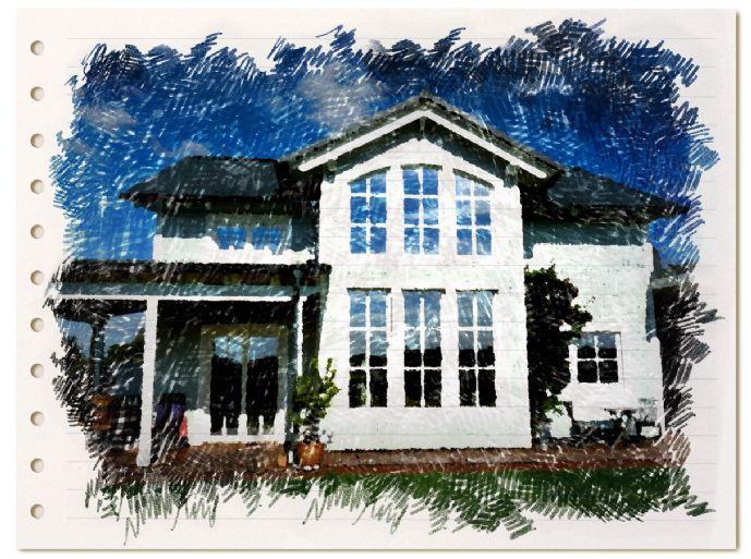 Villa im New England-Stil projektiert im KfW40-Standard, auf großzügigem Grundstück, inmitten von altem Laubwald. Seltene und einmalige Offerte!
