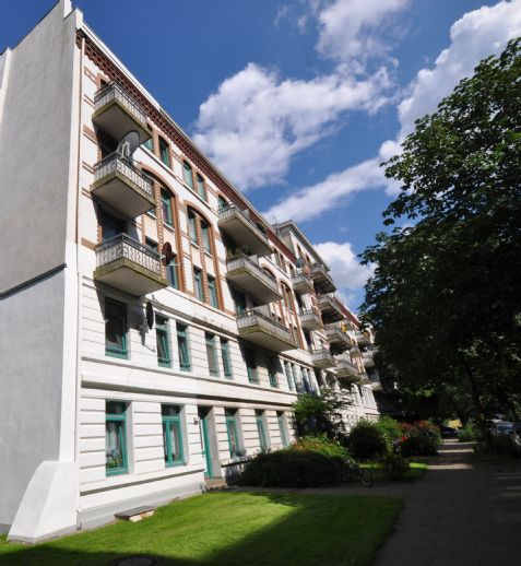 Courtagefrei in Rothenburgsort: 2-Zimmer-Whg nähe Hafencity und Elbpark Entenwerder. 42,5m2 / Balkon / Keller.