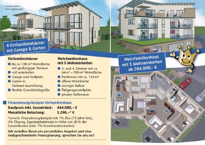 Neubau: Einfamilienhäuser in Schwandorf!