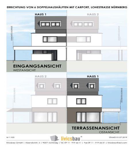 Bestlage Nürnberg-Thon / 6 Stylische Doppelhaushälften / Verkaufsstart erfolgt !