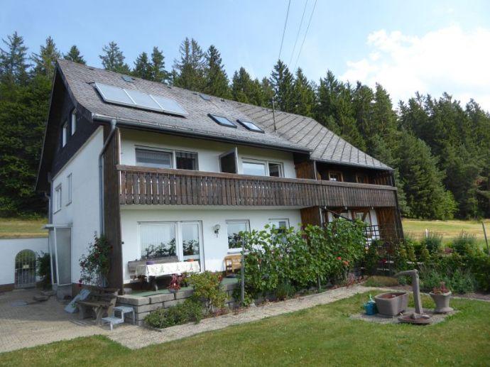 In Alleinlage ein massives Haus mit viel Nebenfläche, 3 Ferienwohnungen und ein zauberhafter großer Garten in gesuchter Aussichtslage