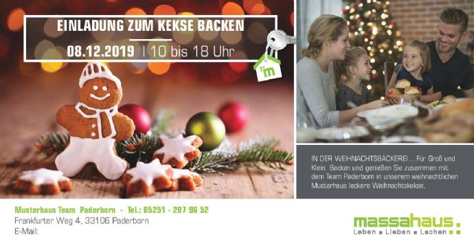Kekse backen im Musterhaus am 08.12.2019