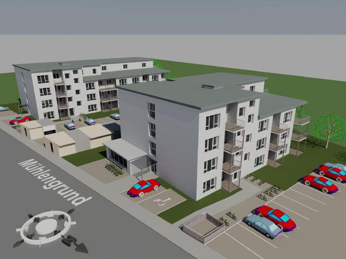 Neubau !!  seniorengerechte 2 Zimmerwohnung in Ilsede Mühlengrund mit Balkon / Terrasse zu vermiete