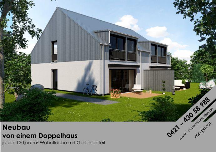Neubau eines Doppelhauses in Bremen/ Huchting von Privat