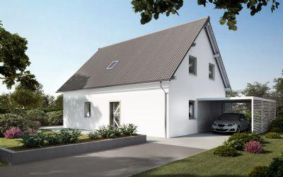 massives modernes Einfamilienhaus in Tauer