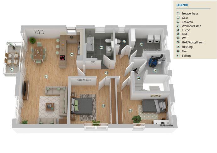 NEUBAU-Erstbezug - 3,5 Zimmer - 1.Obergeschoss - Südbalkon - moderne Architektur - ruhige Lage - viele Einkaufsmöglichkeiten - Erdwärme mit Kühlung!!!