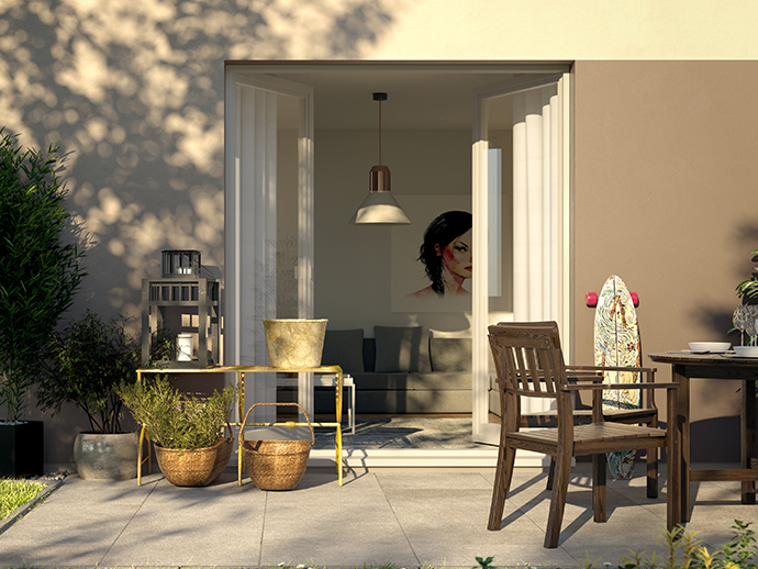 Erdgeschosswohnung mit Terrasse und Garten