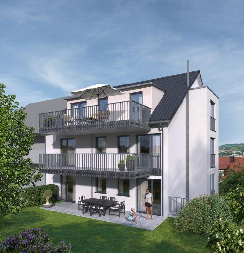 Exklusive 4-Zimmer Wohnung im Grünen mit großem Gartenanteil