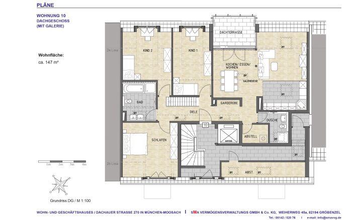 Dachgeschosswohnung mit Galerie und Dachterrasse