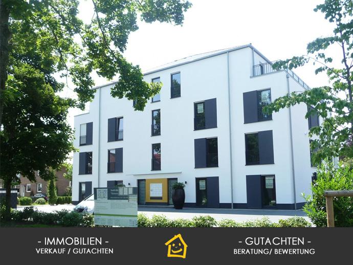 Stadtnahe und Moderne 2-Zi. EG Whg. mit ca. 93 m² Wfl., EBK, Hausmeister, Stellplatz, Privatgarten