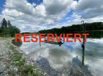 RESERVIERT! Absolute RARITÄT! Baugrundstück mit Rheinufergrundstück und 2 Bootspfähle in Büsingen
