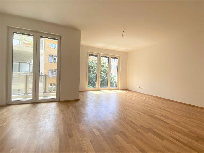 3-Zimmer Wohnung mit separater Küche, Balkon und Loggia in Erstbezug