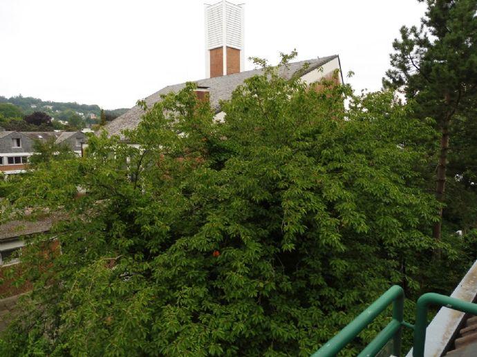 Studiowohnung mit Blick ins Grüne, großes vollverglastes Gielbelzimmer