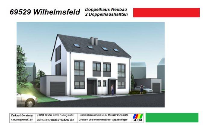 Wilhelmsfeld Neubau Doppelhaus - 2 Doppelhaushälften