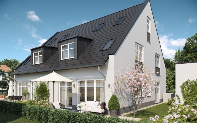 Rohbau fertiggestellt: Sonnige Doppelhaushälfte in Feldmoching