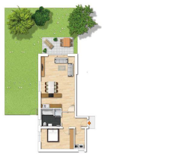 Neubau!! 2,5-Zimmer-Wohnung mit Garten