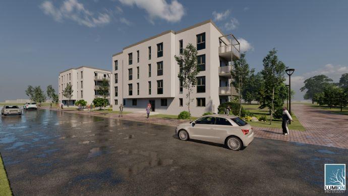 Neu zu errichtende 3 Zimmerwohnung ( KfW 55 Bauweise  mit Terrasse / Balkon ), im Elisenpark, zu verkaufen
