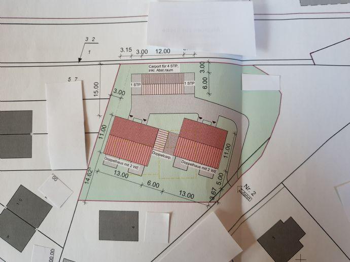 Grundstück 1826 qm voranfrage für zwei Doppelhäuser ist gestellt.....mit Altbestand
