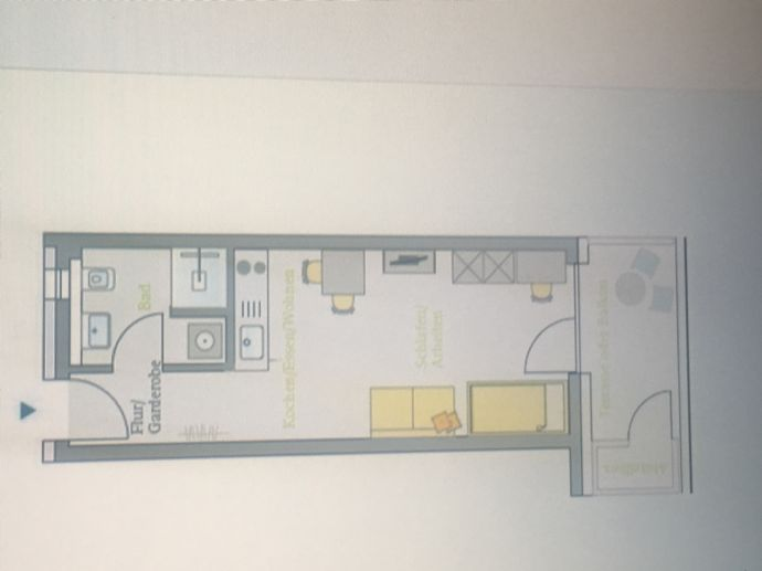 Gehobene 33 m² 1-Zimmer- Studentenwohnung mit Balkon südlich des Stadtzentrums von Erlangen.