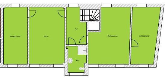 Erstbezug nach Sanierung: schicke 3-Raum Wohnung im Hinterhaus mit separatem Eingang