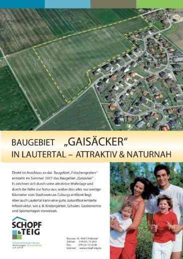 Baugebiet Gaisäcker in Oberlauter
