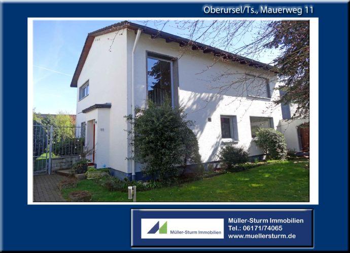 OBERURSEL/TS: Freistehendes, charmantes und modernes Wohnhaus mit großem Grundstück.