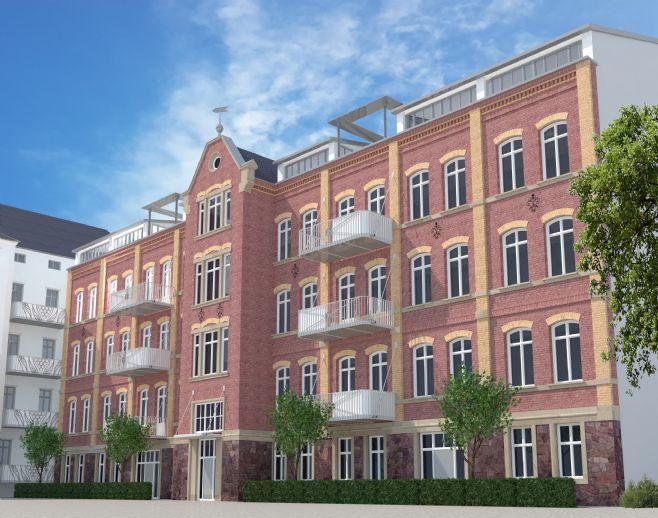 FABRIKWOHNEN (KULTURDENKMAL) CHEMNITZ-MITTE, 4-Zi. mit Balkon, offener Küche, HWR, Gäste-WC, Aufzug + PKW-SP