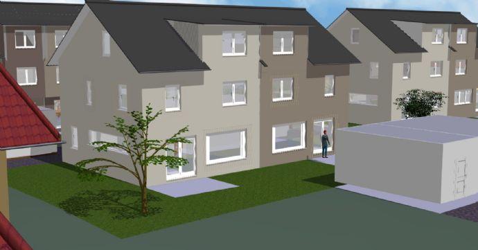 Neue Doppelhäuser, Reihenhäuser und Wohnungen in Ebersweier. Baubeginn ist erfolgt.