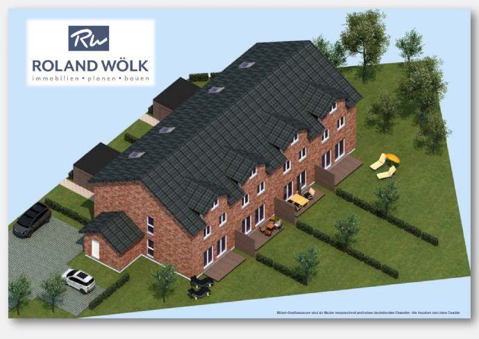 Grundstück mit Baugenehmigung für 4-er Reihenhaus