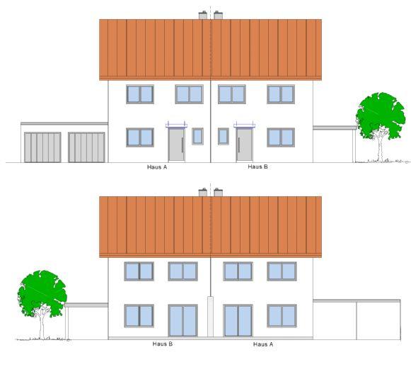KfW-55-Neubau-Doppelhaushälften in Egg (Bernried)