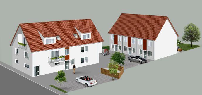 3 Reihenhäuser mit Ausbaureserve und Garten - Haus 1 & 2