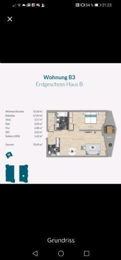 Schöne sonnige Wohnung mit Balkon, 15 min bis Frankfurt City