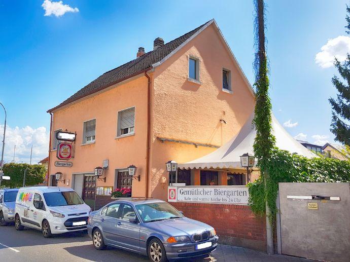 Alteingesessene Gaststätte mit Biergarten oder solides MFH mit Potential im Herzen von Mühlheim-Dietesheim