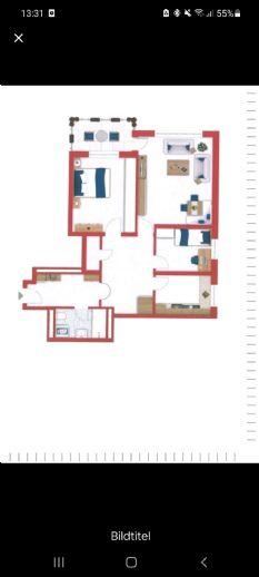 Schloß Neuhaus 3-Zimmer-Wohnung in der 3. Etage