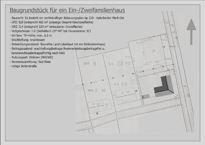 Baugrundstück auf Wunsch mit Kapitalanlage in bester Lage von Dortmund-Aplerbecker-Mark...