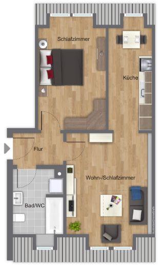 Erstbezug nach Sanierung! Hochwertige 2-Zi-Altbau-Wohnung in der Fürther Altstadt