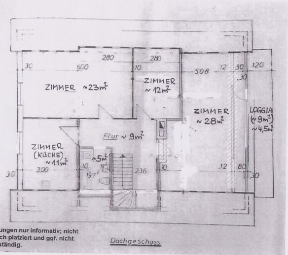 3-Zi.-Whg. mit 93 m² Balkon