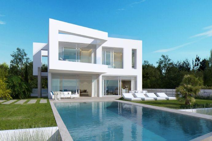 Zeitgenössische Luxus- Villa in erster