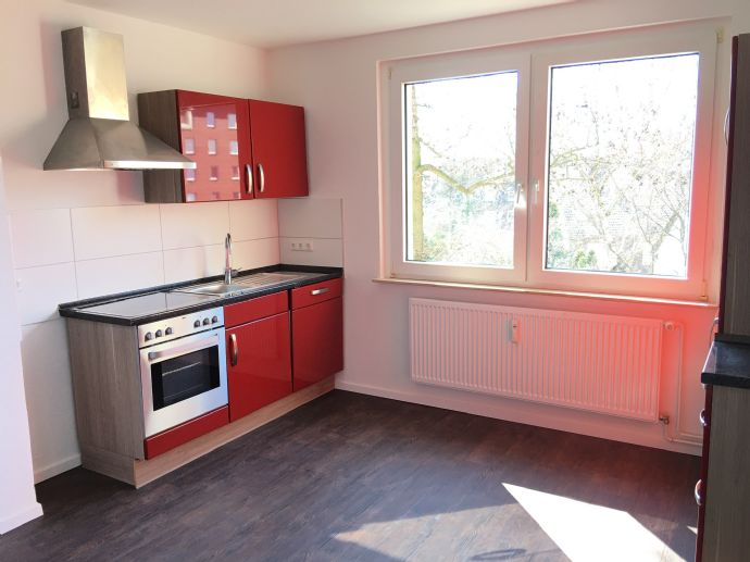 Hochwertig renovierte, helle Wohnung mit moderner Küche.