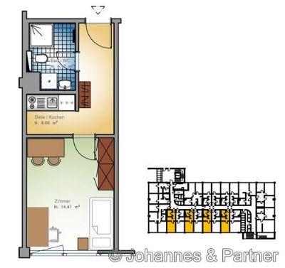 moderne 1 Zimmer-Wohnung in Dresden-Plauen