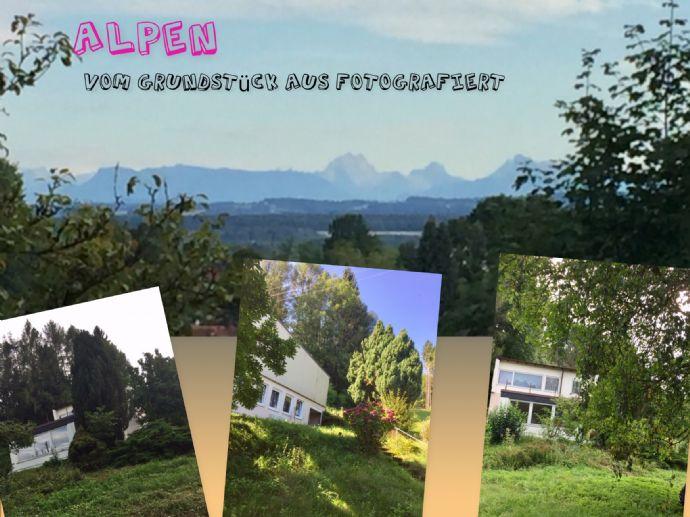 Alpensicht bei Föhnwetter - Wohngebäude+Bungalow auf 3.128 m² traumhaftem Grundstück in super Lage.