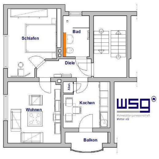2-Zimmer-Wohnung im III. OG mit sonnigem Balkon