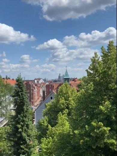Blick über die ganze Stadt, Hannover-Linden, 1 Zi -Whg, Erstbezug nach Komplettsanierung