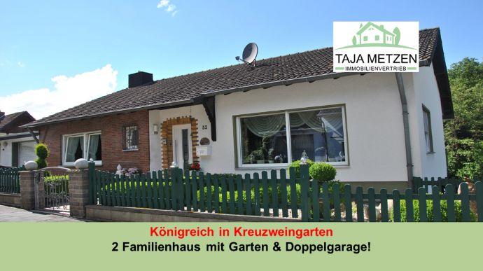 Königreich in Kreuzweingarten 2 Familienhaus mit großem Garten & Doppelgarage und Carport !