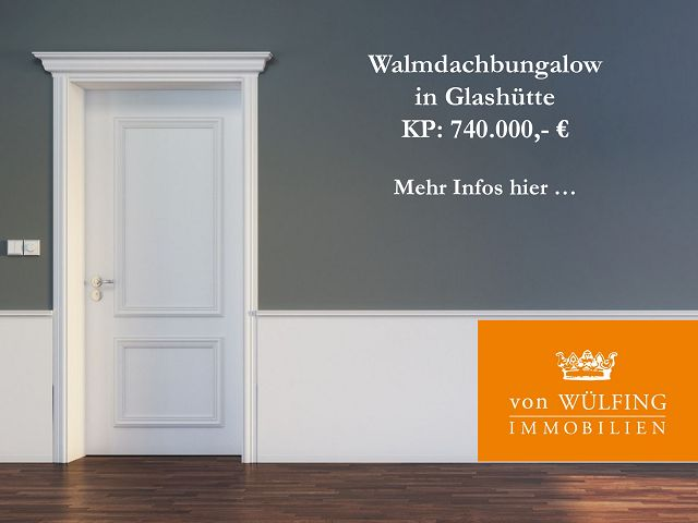 Walmdachbungalow in Glashütte