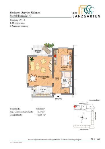 Senioren Service Wohnung im Lanzgarten, Mannheim-Lindenhof