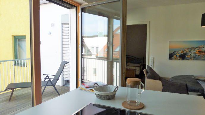 Neu ! Freising Zentrum: Luxuswohnen über den Dächern mit Balkon zum Domberg